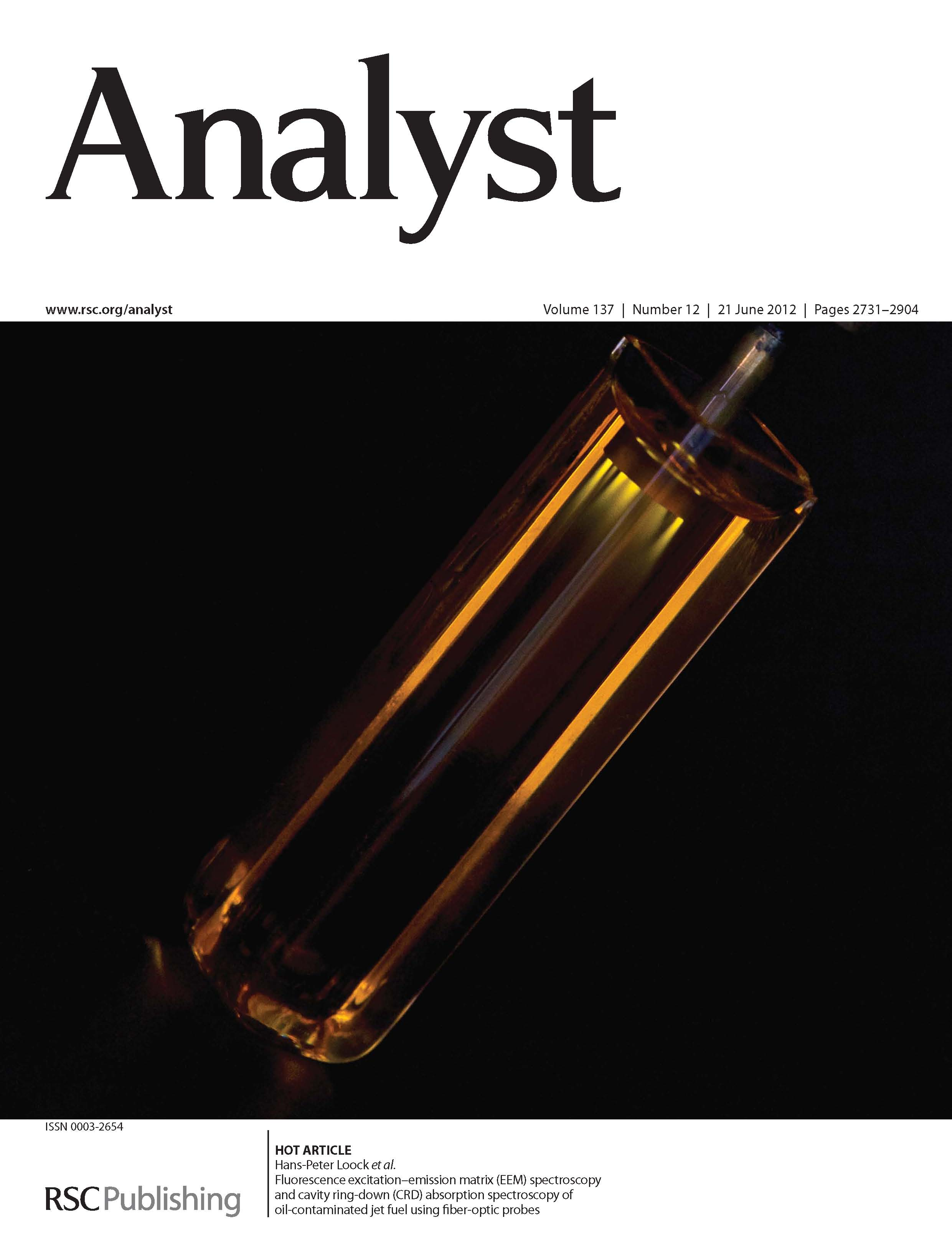 2012 Analyst Fluorescence EEM and Fiber CRD on fuel and oil (cover) - Copy.jpg