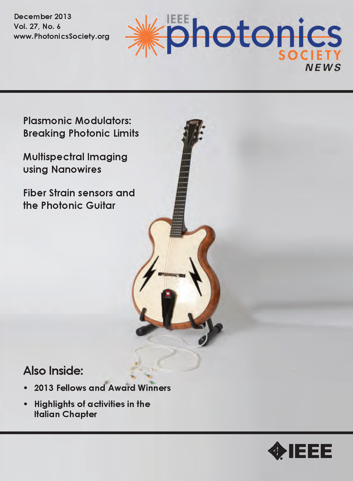 2013 - IEEE Photonics Society Newsletter - Photonic Guitar - cover page - Copy.jpg