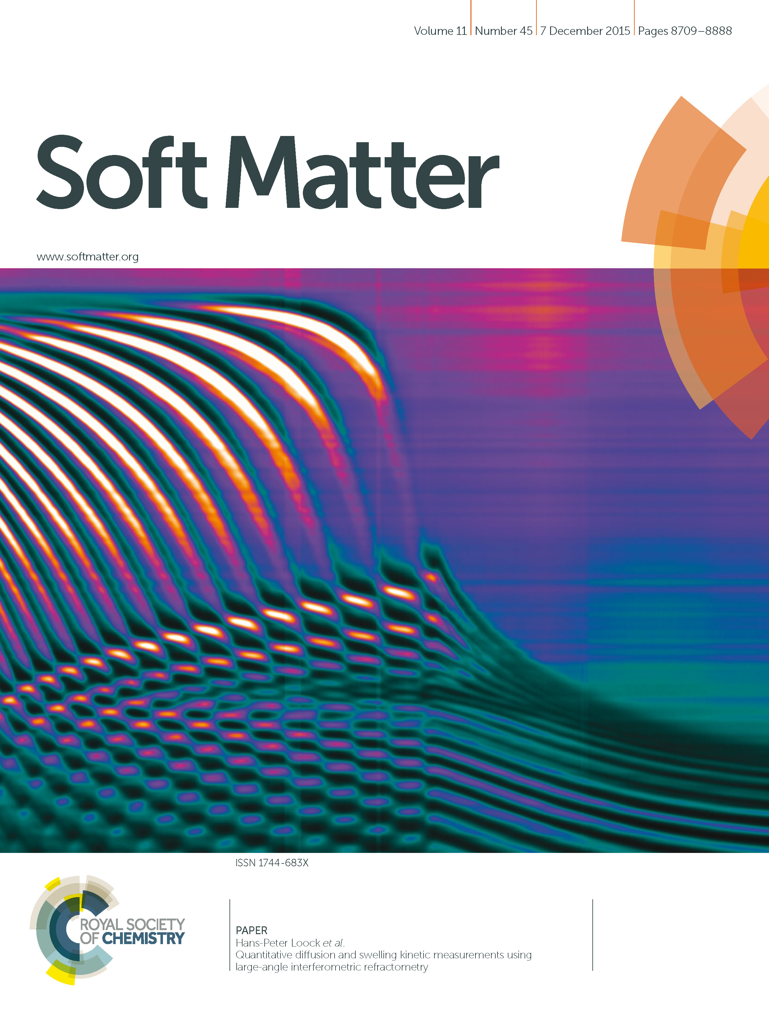 2015 - RSC Soft Matter - Quantitative diffusion and swelling kinetic measurements - cover - Copy.jpg