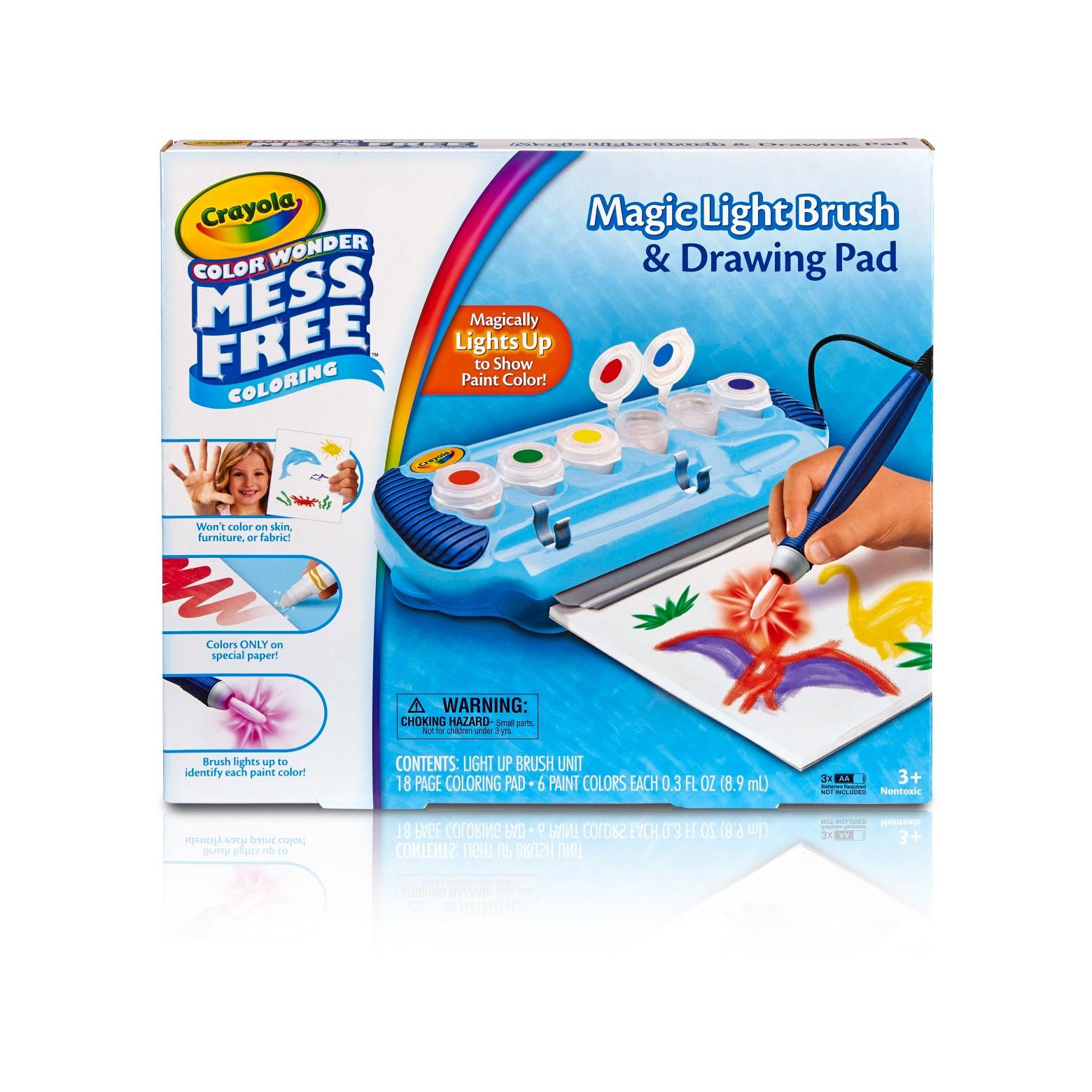 Crayola Color Wonder Magic Light Brush and Drawing Pad