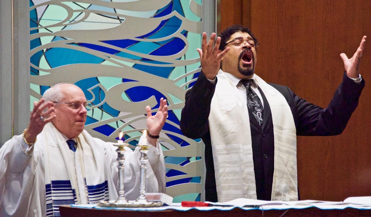 Rabbi Peter Hyman and Jason McKinney. Photo by Alan Mickelson