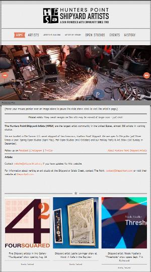 Home page at shipyardartists.com