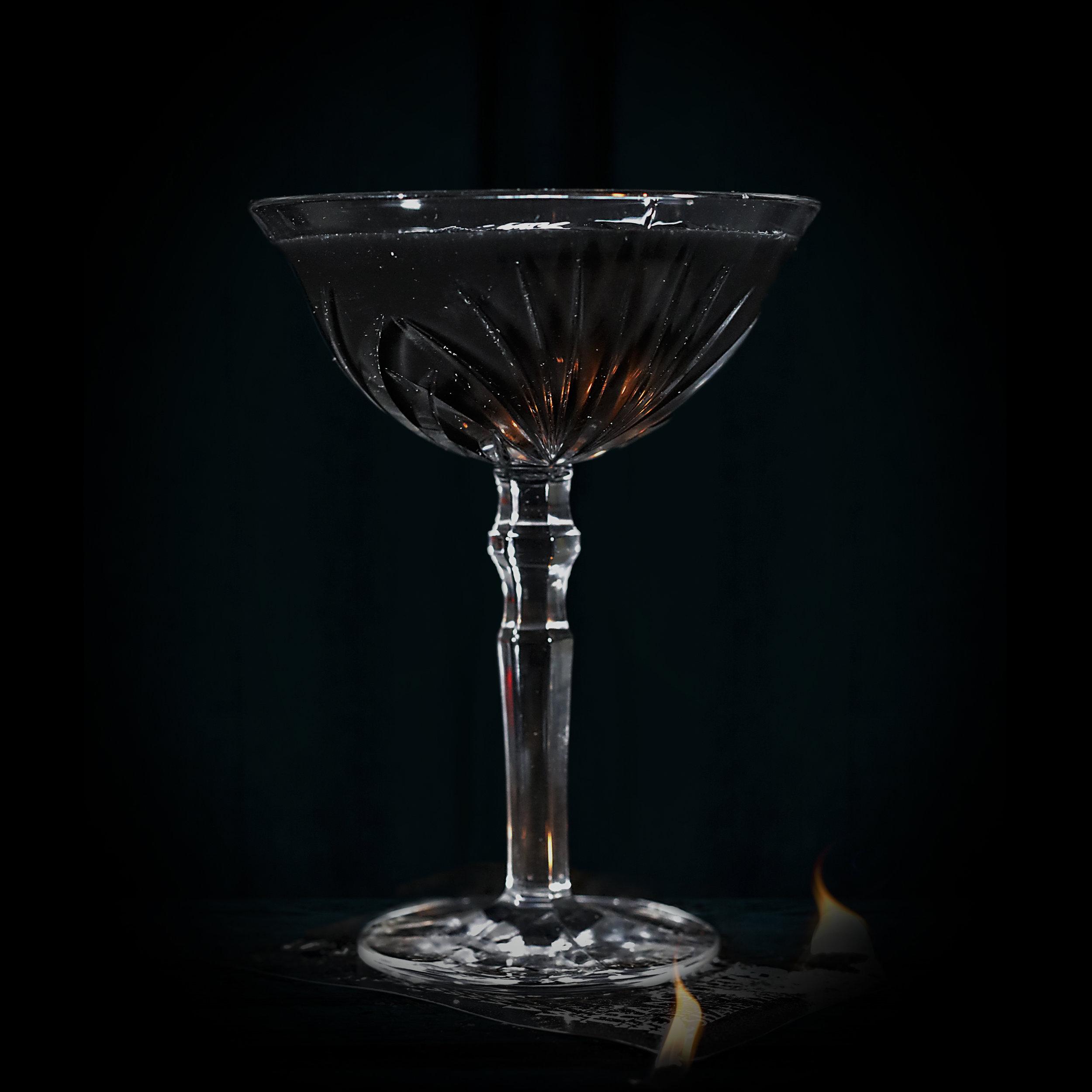 DAIQUIRI NOIR  INGREDIENTS  - 2 oz. Jalapeño infused El Silencio Espadin w/Activated Charcoal - .75 oz. Agave Nectar - 1 oz. Fresh Lime Juice  METHOD  Shake w/Ice and strain Cocktail Glass