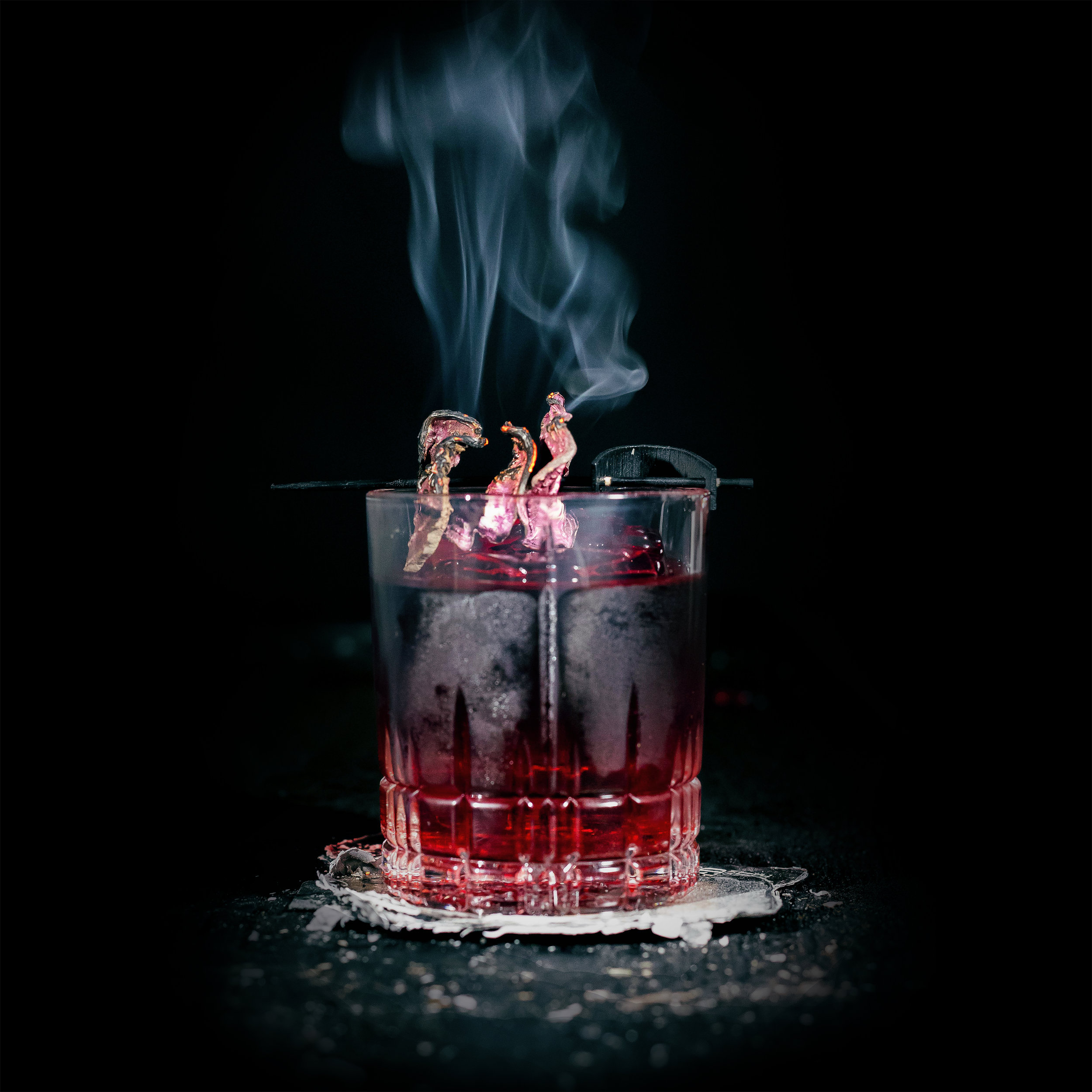 OAXACAN BEET NEGRONI  INGREDIENTS  - 1 oz. Beet infused El Silencio Espadin* - 1 oz. Carpano Antica Formula Vermouth - 1 oz. Campari  METHOD  Stir with ice & Strain Rocks Glass - Orange Peel   * Beet infused El Silencio Espadin *  - 9 Beets(rough chopped) - 1 bottle ES Espadin (750 ml) Combine ingredients and let sit for 48 hours. Fine strain and bottle.