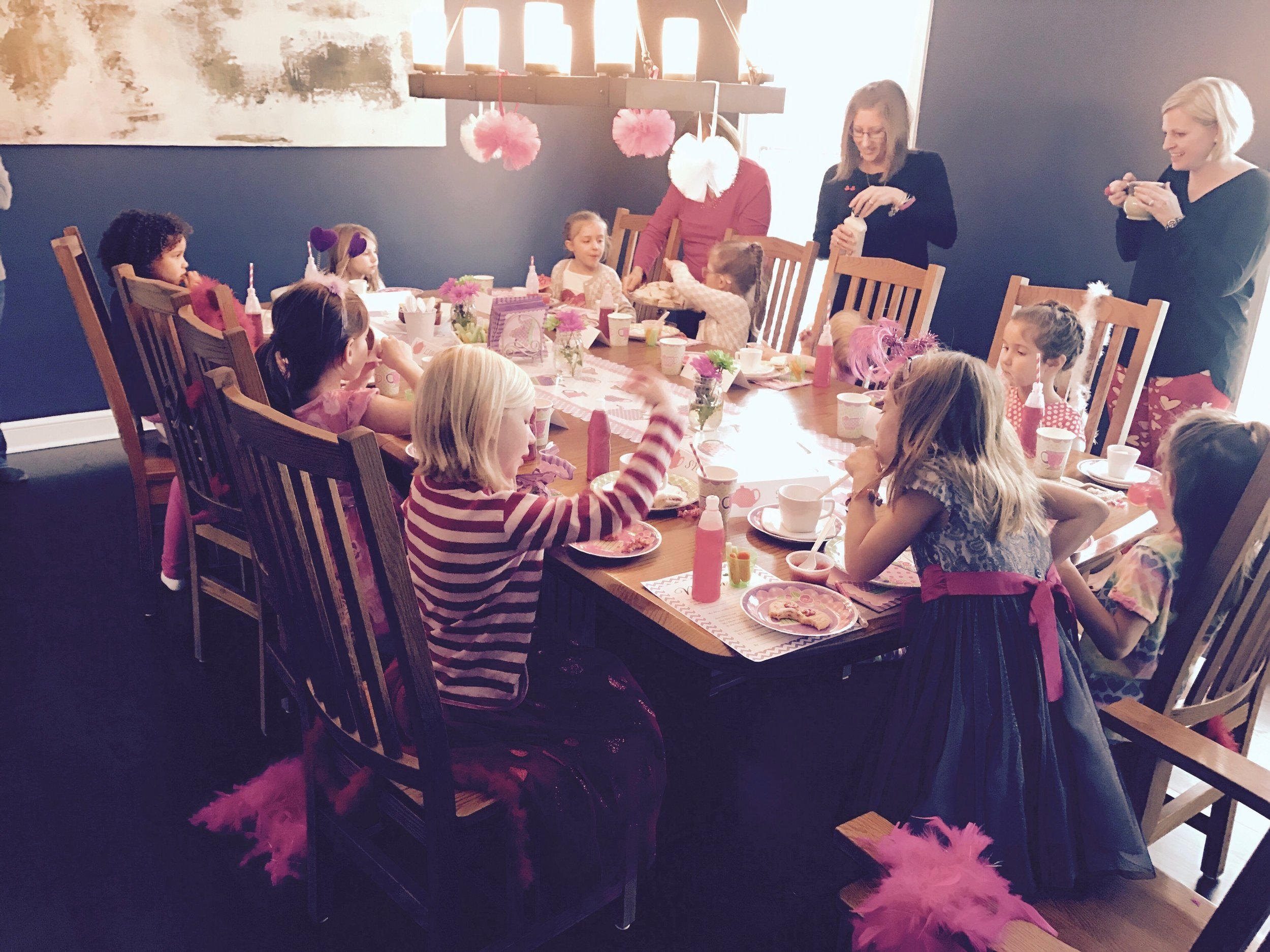 "Creating memories at our ""Mommy and Me"" Tea Party"