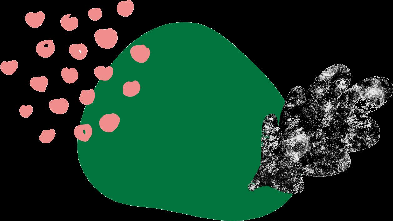 Green blob broc leaf pink dots.png