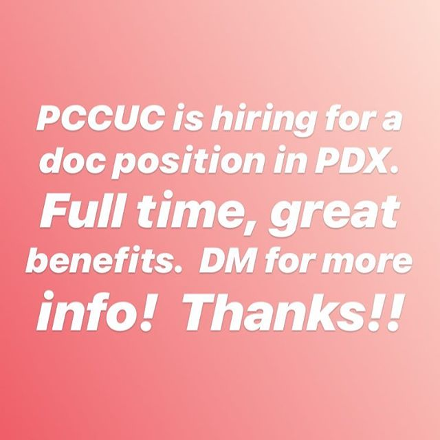 We are hiring!  Looking for another fabulous physician to join our ranks in Portland. Great work environment. DM for details!  Thanks!