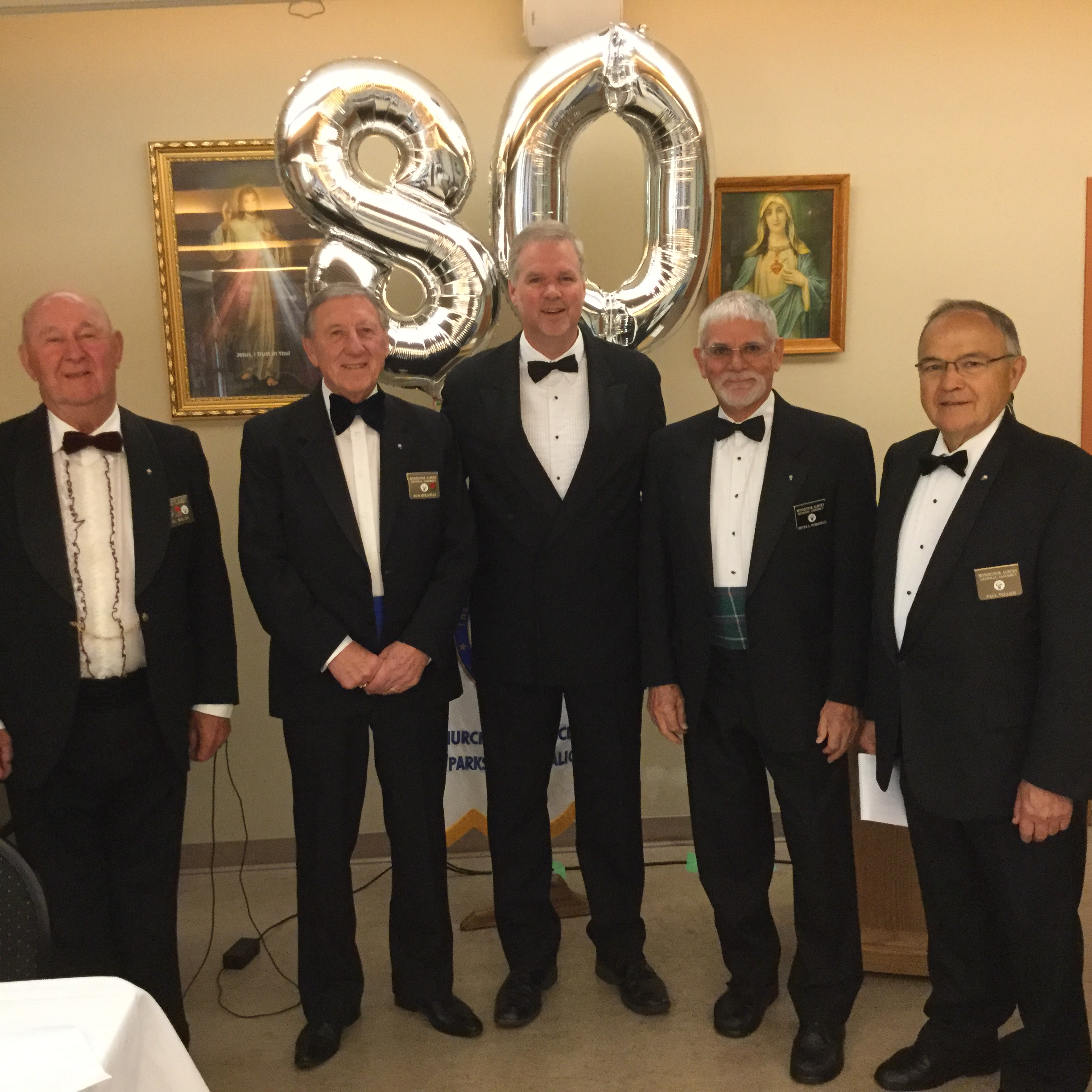 The Knights of Columbus were handsome escorts and servers