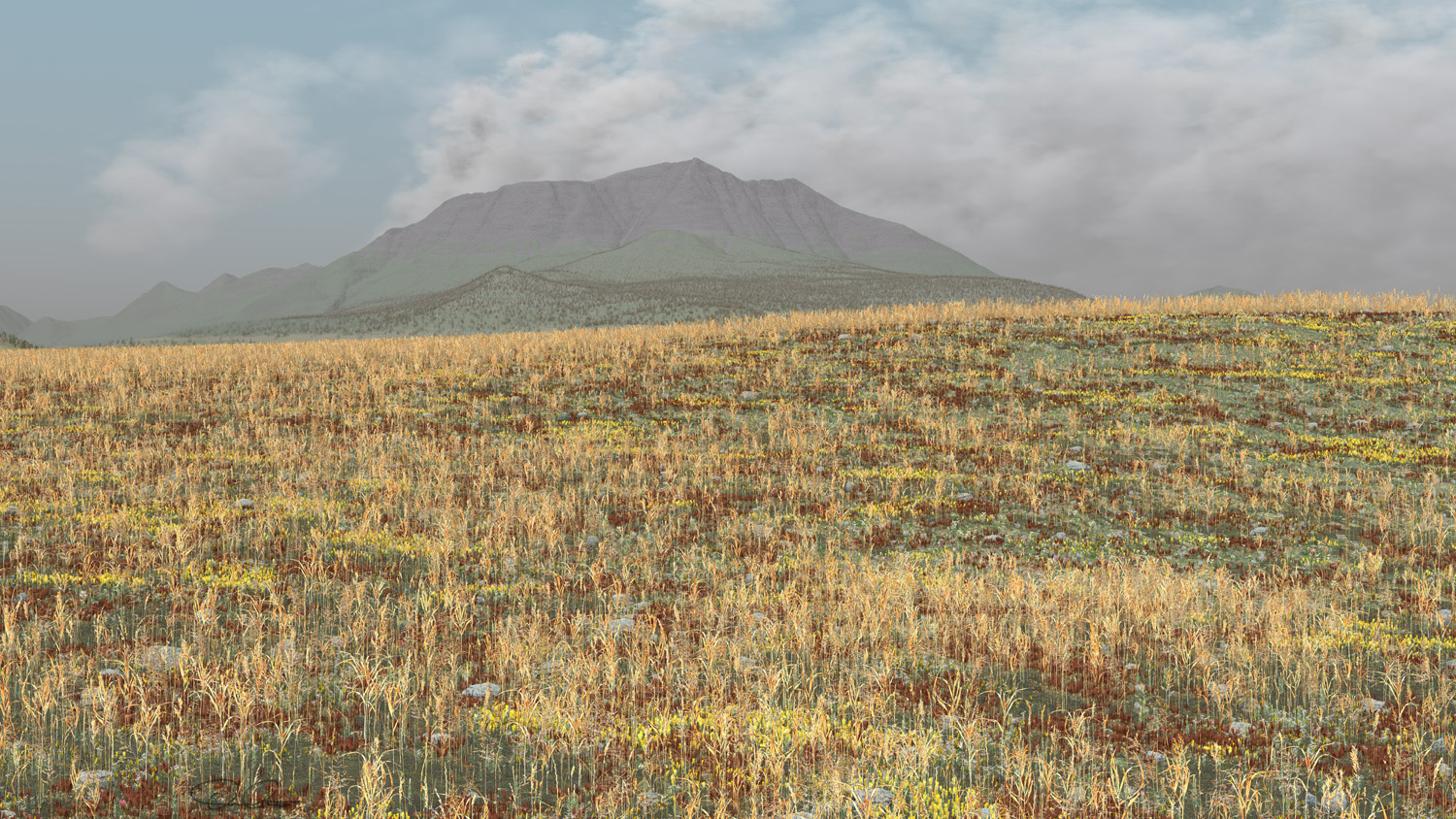 Mount Katahdin, Maine perspective with storm clouds over the highest point on the East Coast.  Click on the image (above).