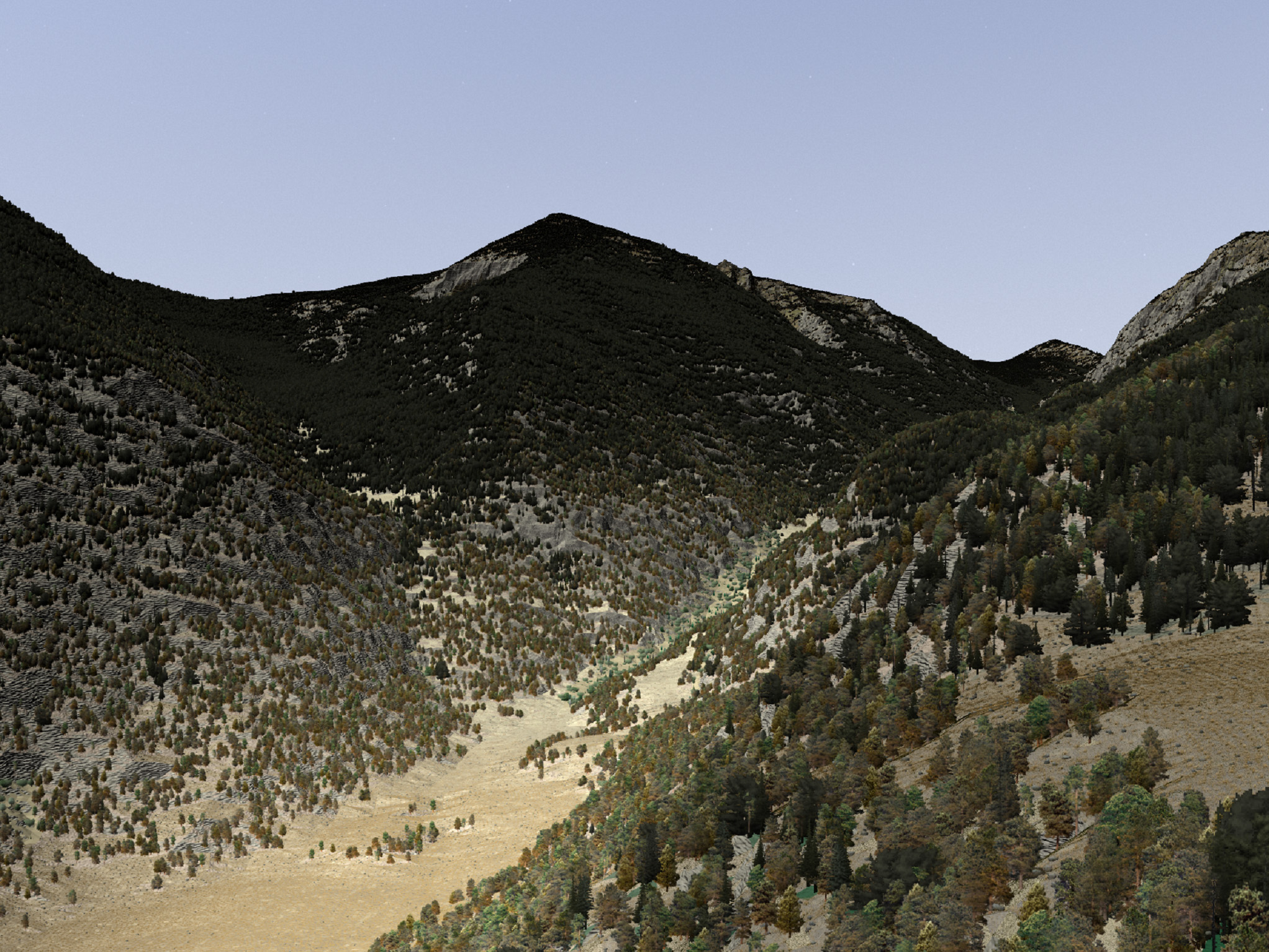 """... and here is yet another Camera perspective of the """"Horseshoe Park"""", Colorado 3D environmental model in VNS ..."""