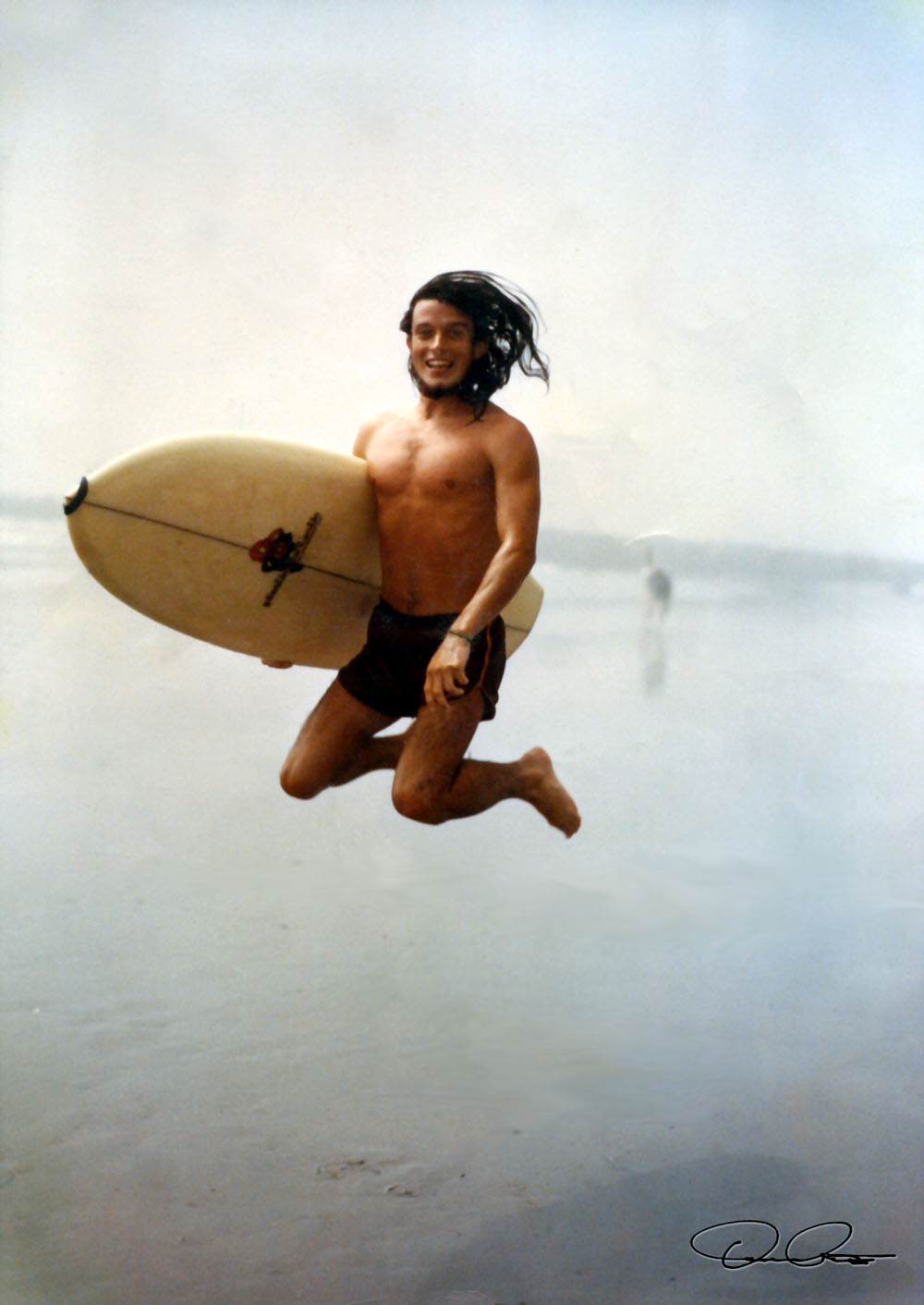 """Here I am ... surfing Ocean City, New Jersey back in 1974 ... with my Plastic Fantastic board that I bought off of """"Mel"""".    And, that blue surfboard on our Loggish Spear logo?   Got it from Mel: it was my 1975 Christmas present from my parents ...  as I had no board, as the Plastic Fantastic I had been riding died of a bad case of """"tail rot"""".  The  Loggish Spear  was a dove-tailed winger Mel had made at  Heritage Surfboards  in Sea Isle City, New Jersey. On the first day he rode it, the board got loose; and someone rode over the board and put a nasty cut in the rail with their fin (above the 'Spear' on our logo) ... so Mel was glad to get rid of that  Cursed Board . And, Steve named it, the  """"Loggish Spear"""",  back in 1976. It rode like dung on most days, but when it got big, it carved some great turns, backside. I took it to Hatteras during a bus-ride/hitchhike adventure down North Carolina Highway 12 during the early spring of 1976 ... while the rest of my family went skiing at Mont-Tremblant in Canada.  From the age of three, I was a skier, too.  As, also was Mel.  See two Dutch maps, Middleburg and Zeeland, Netherlands ( Middleburg, Holland  and  Zeeland Province [1], Holland  and  Zeelandia Province [2], Holland ). Lived in Middleburg and Scheveningen from 1967 to 1969; and went to the a DuPont-sponsored school in Dordrecht, Holland and then the American School of the International School of The Hague, Netherlands."""