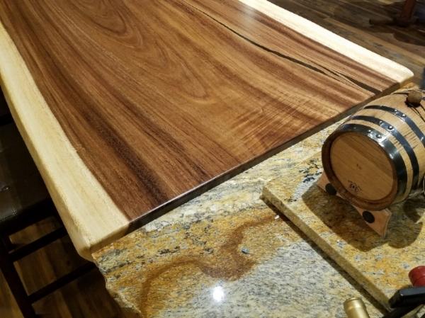 Granite and wood countertop