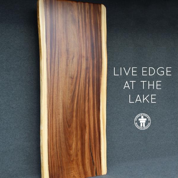 Live edge Parota wood slab