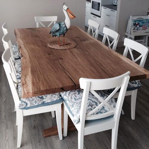 Live edge coastal table