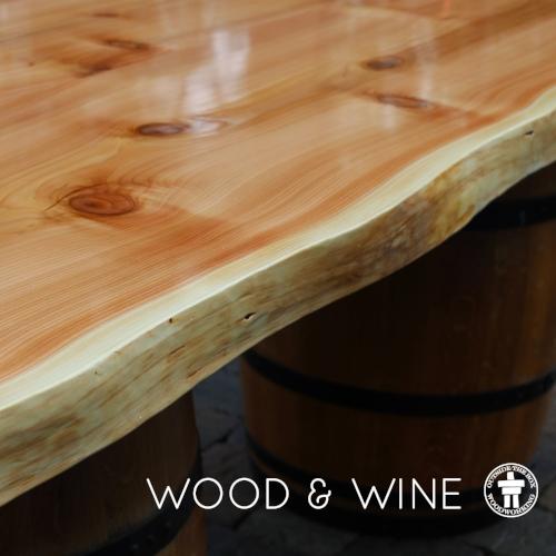Cedar live edge slab