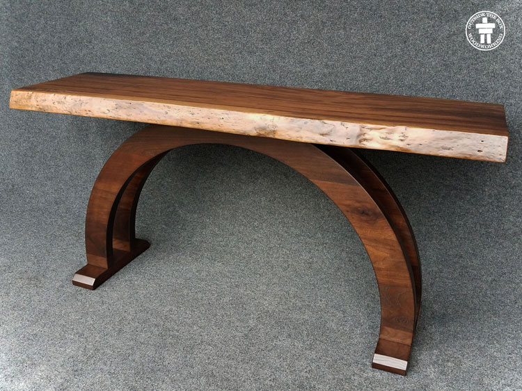 Arched legs console table