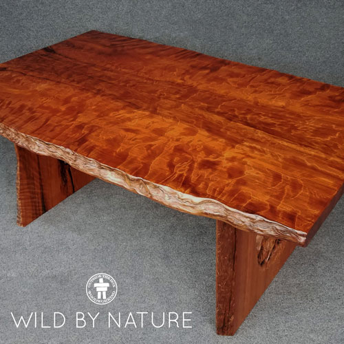 Slab table Redwood