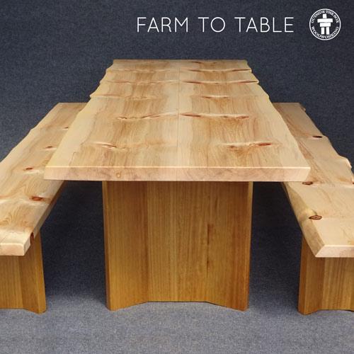 Dual tone dining set