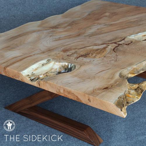 Custom live edge coffee table
