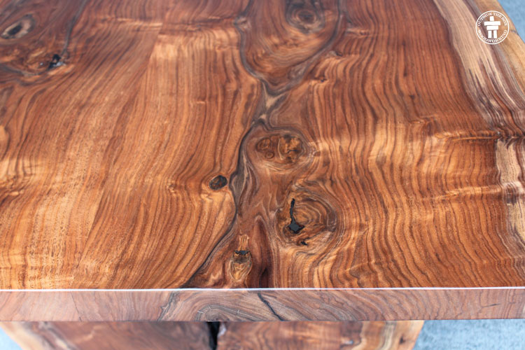 Walnut grain slab top
