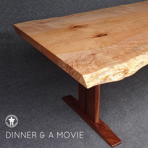 Live edge dining contemporary leg