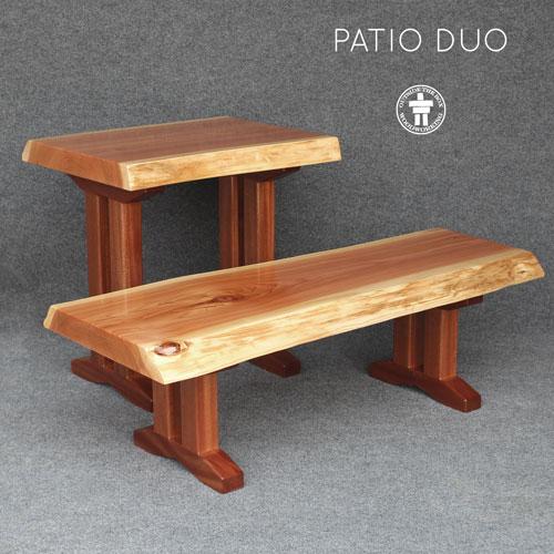 Custom live edge rustic patio tables