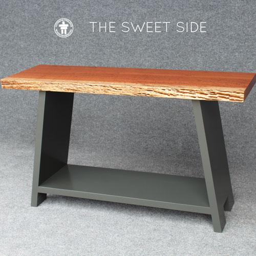 Custom live edge side table