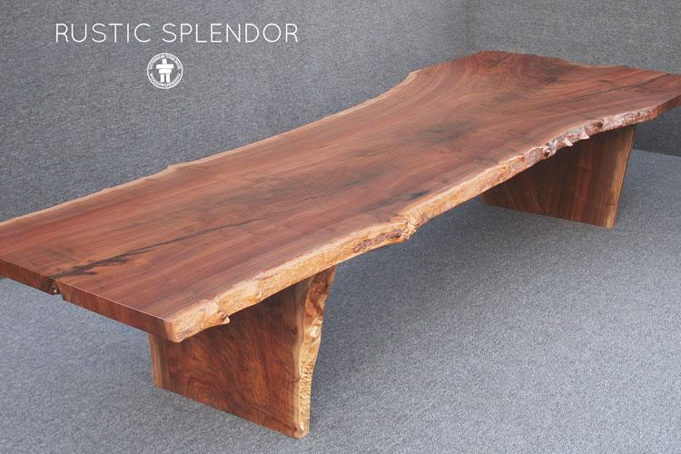 Live edge Walnut slab table