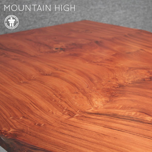 Redwood slab dining table