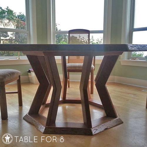 Custom geometric dining