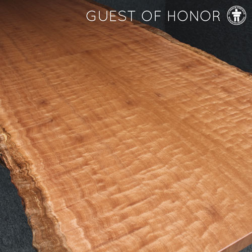 Seattle live edge slab dining table
