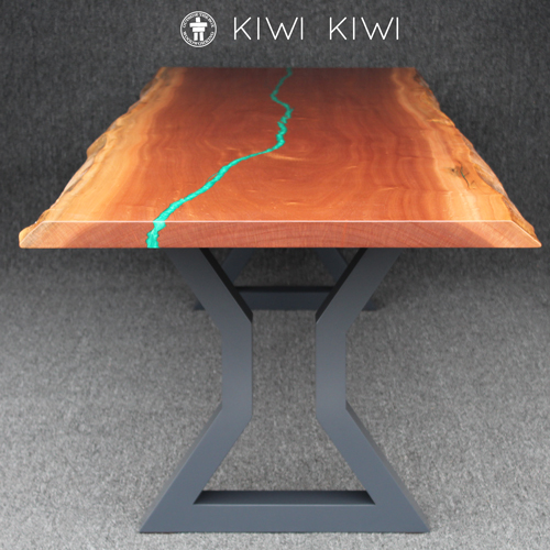 Modern live edge dining table