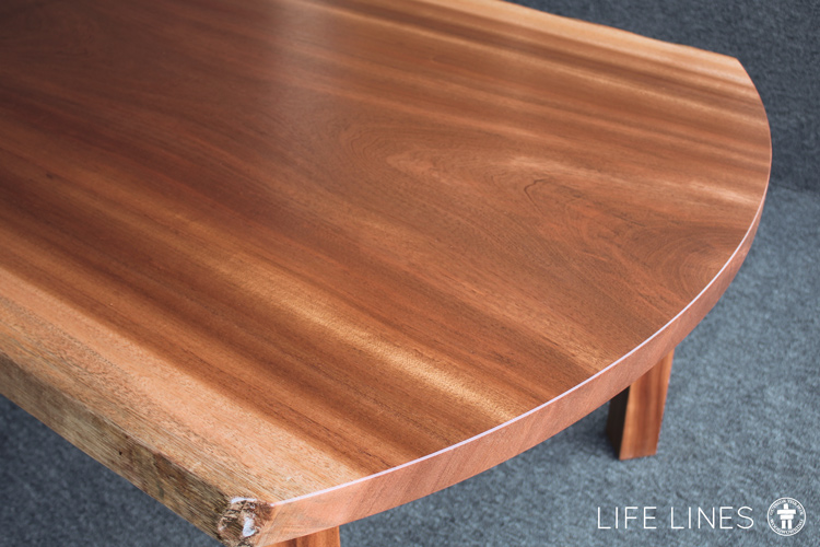 Radius edge solid wood dining