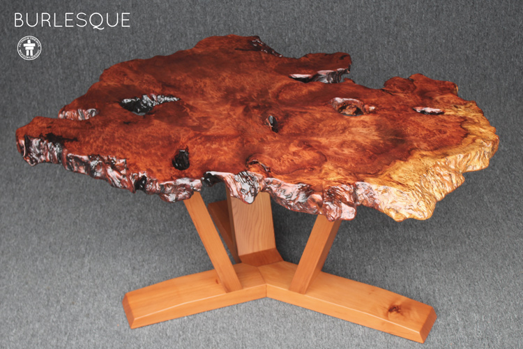 Live edge natural burl table
