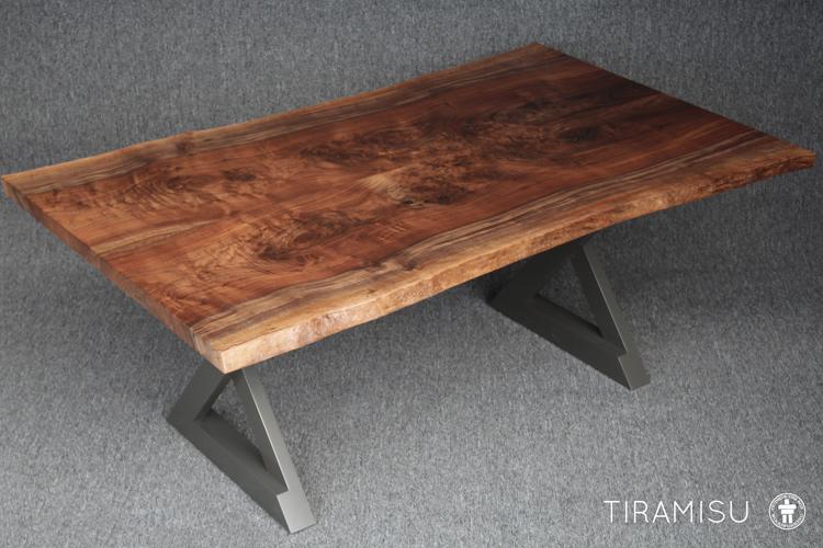 Custom live edge Walnut dining table