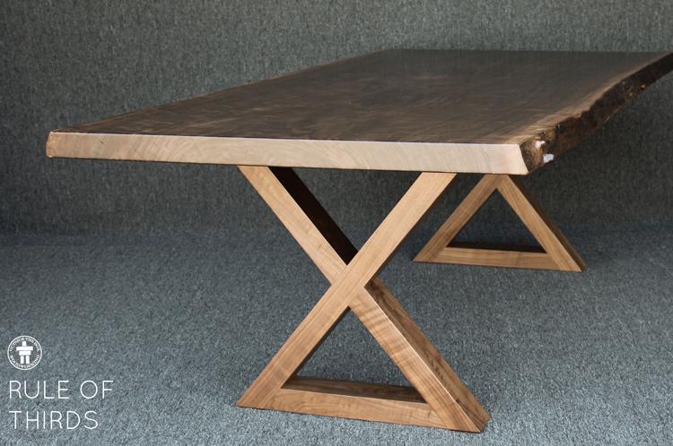 Custom Walnut live edge table