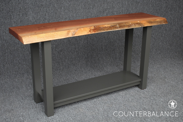 Live edge console table