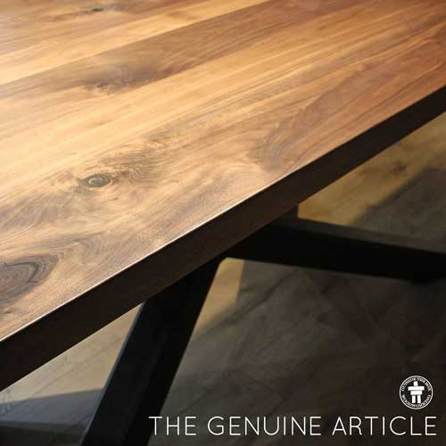 Industrial wood dining table Seattle