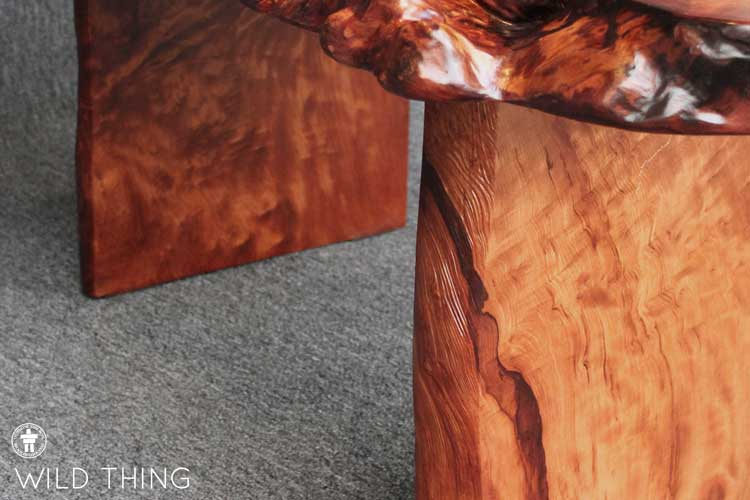 rustic slab coffee table