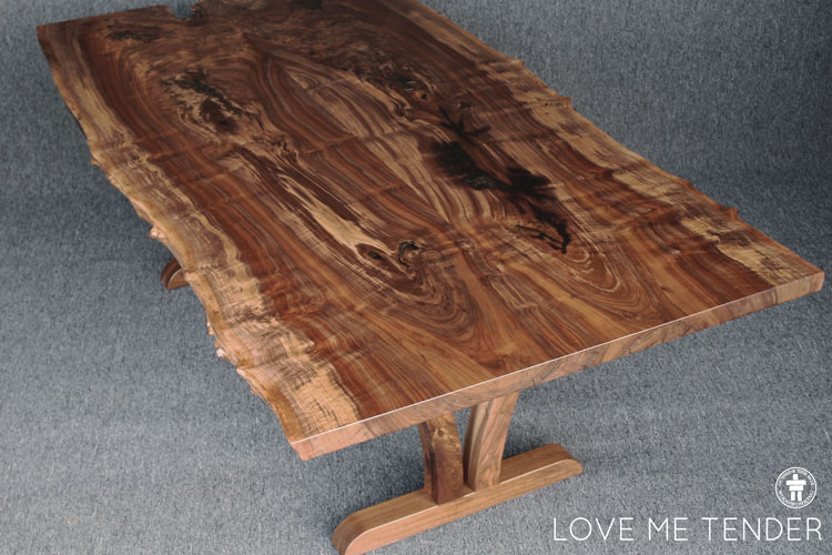 Unique wood dining table