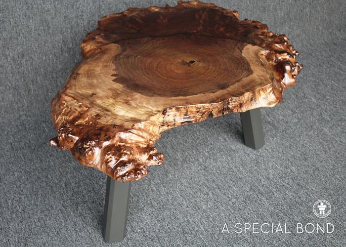 Contemporary live edge table