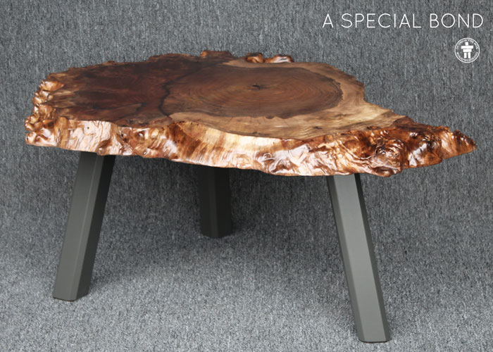Organic edge Walnut table