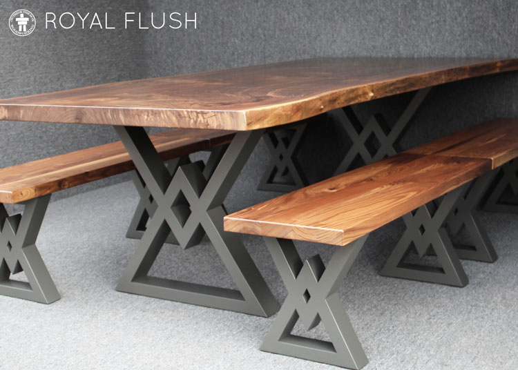 Custom Walnut Table with benches