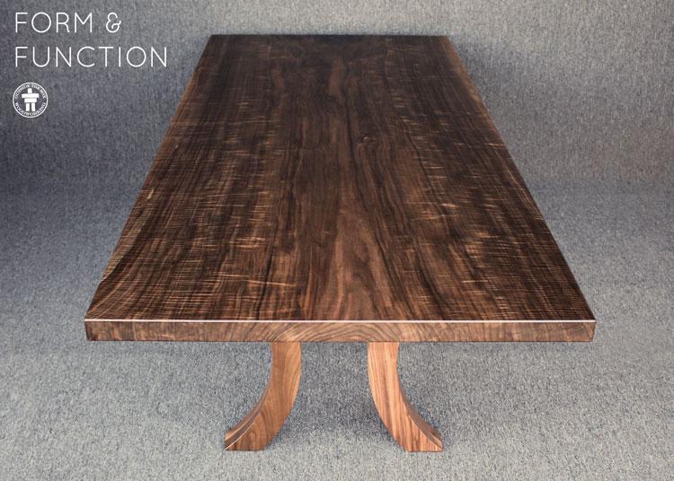 Seattle wood slab table