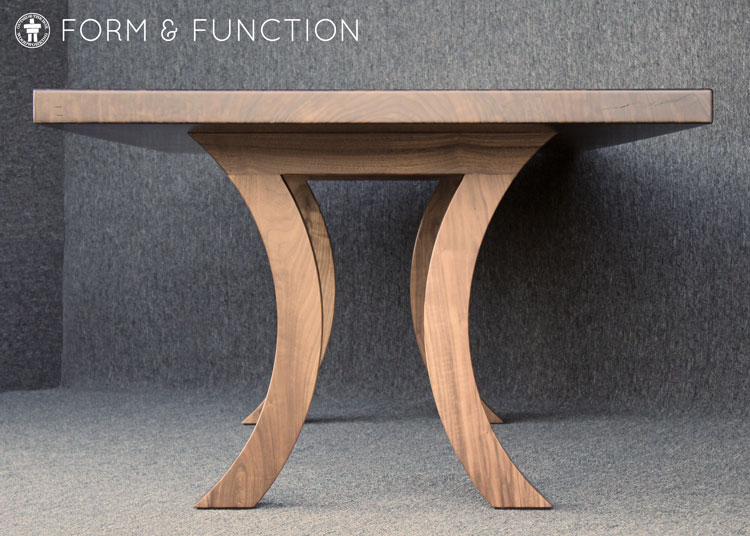 Elegant custom wood table