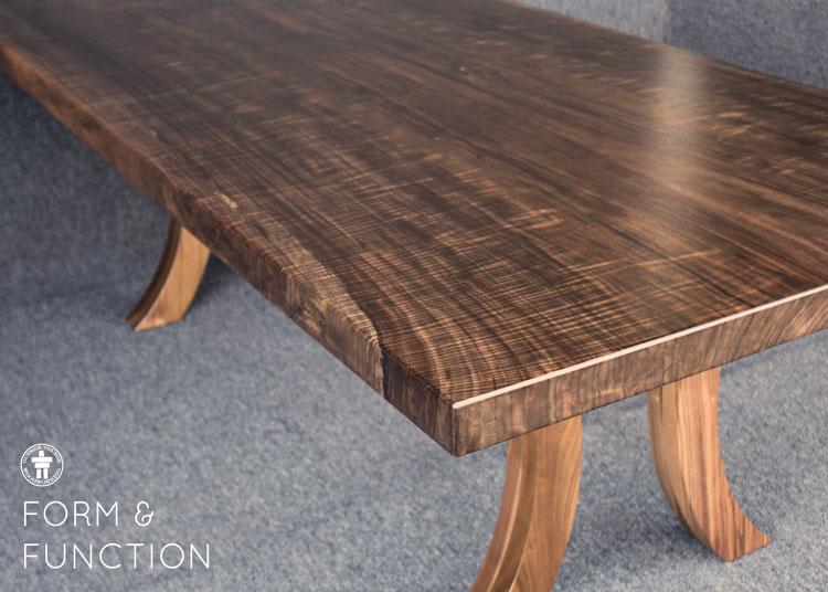 Slab Walnut dining table
