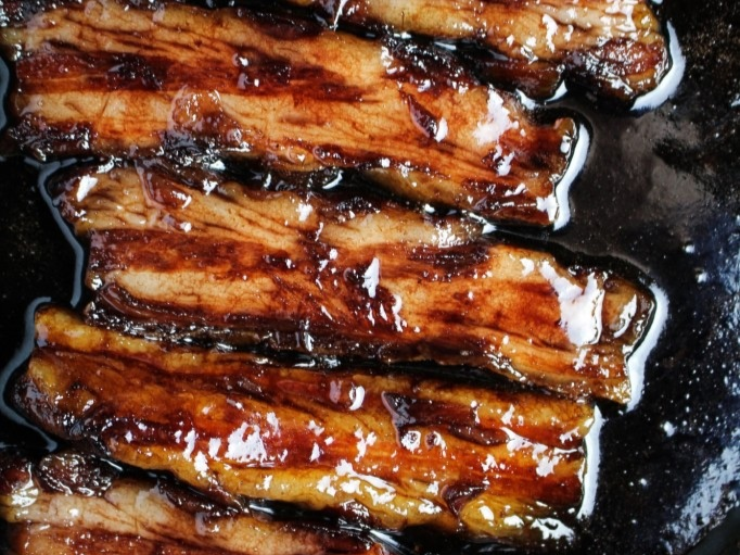 Caramel Red Wine Pork Belly - Confident in the kitchen? Try this recipe and show off your finesse.