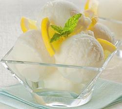 Good lemon gelato with translucent edges