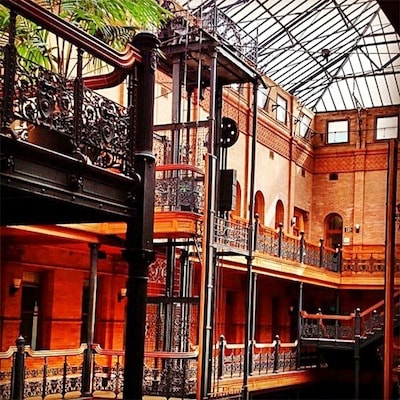 A peek inside the Bradbury Building. Photo: refinery29