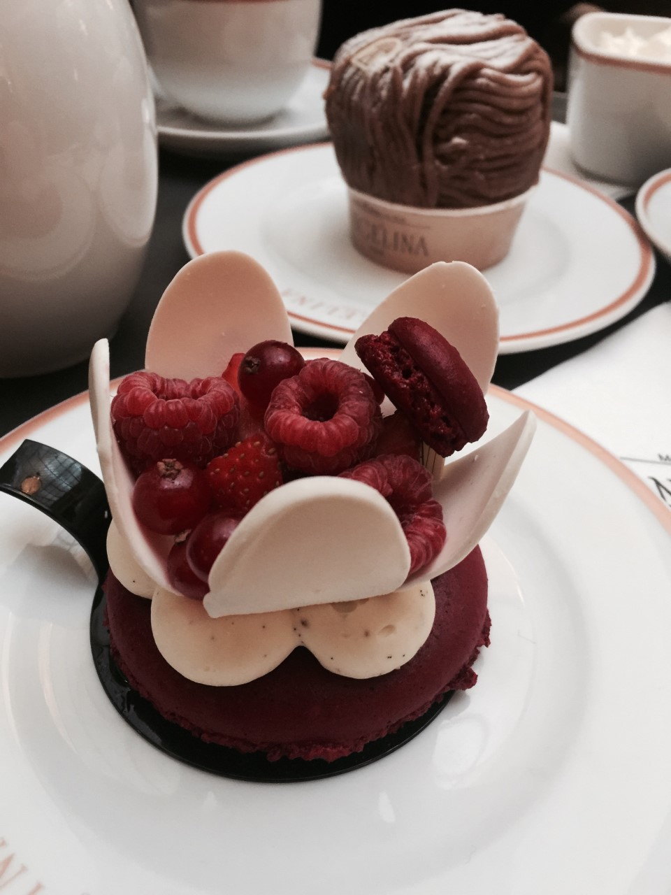 ANGELINA CAFE - Best hot chocolate in Paris with a Mont Blanc on the side!